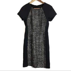 J Crew Dress 4 Italian Tweed Colorblock Gray